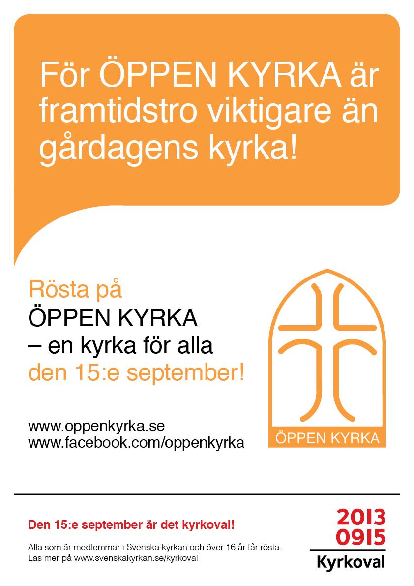 ÖPPEN KYRKA Valaffisch 2013 Framtidstro