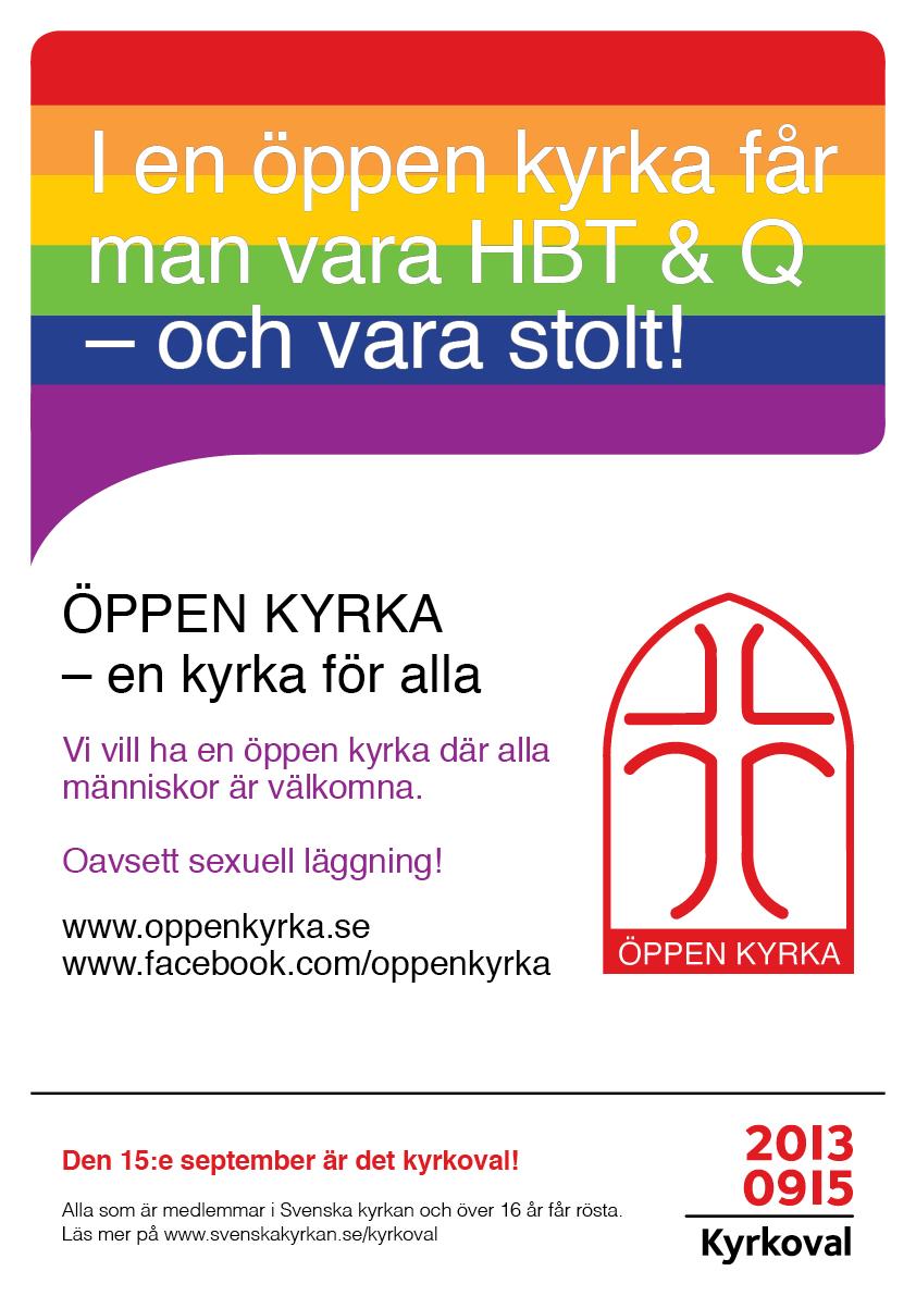ÖPPEN KYRKA Valaffisch 2013 HBTQ